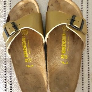 Gold/bronze Birkenstock Sandals 39